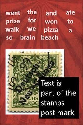 Rough stamp design.